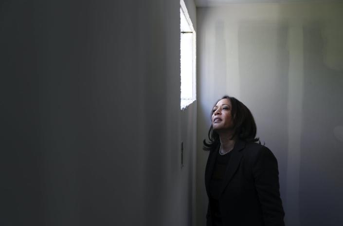 "<span class=""caption"">Sen. Kamala Harris is being attacked for trying to climb too high.</span> <span class=""attribution""><a class=""link rapid-noclick-resp"" href=""http://www.apimages.com/metadata/Index/APTOPIX-Election-2020-Kamala-Harris/f76ebe356aac4736919a3e30cb63919d/172/0"" rel=""nofollow noopener"" target=""_blank"" data-ylk=""slk:AP Photo/John Locher"">AP Photo/John Locher</a></span>"