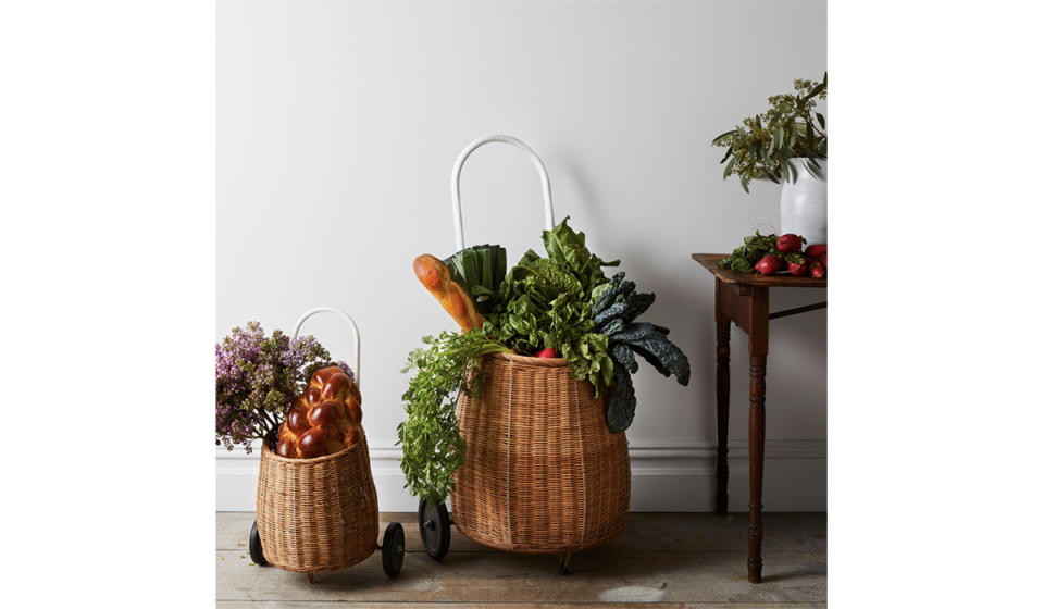 The most stylish rolling cart ever. (Photo: Food52)