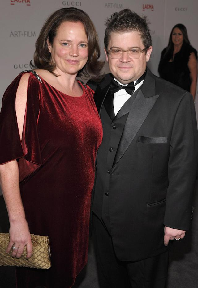 Patton Oswalt and Michelle McNamara make an appearance on Nov. 5, 2011, in Los Angeles. (Photo: John Shearer/Getty Images for LACMA)