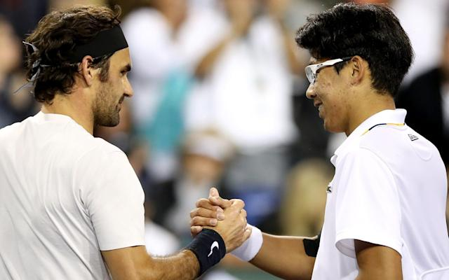 "In the latest addition to his catalogue of marvels, world No 1 Roger Federer equalled his best start to a season on Thursday night, when he beat Hyeon Chung in Indian Wells to notch his 16th straight win. Federer overpowered his 21-year-old opponent, who was still in nappies when he won his first ATP point, by a 7-5, 6-1 scoreline. The one-sidednesss of the contest can be measured by the winners tally: 32 for Federer, eight for Chung. The last time Federer won his first 16 matches of a season was in 2006 – his best-ever year, in percentage terms, which saw him stack up an extraordinary 92 victories and just five defeats, and win three of the four majors. His only defeat at the slams that season came against Rafael Nadal in the final of the French Open. In the early weeks of 2006, Federer's victims included Nikolay Davydenko and Fabrice Santoro. Almost inevitably, it was Nadal who stopped the sequence by beating him in the Dubai final. But this year Nadal is still struggling with a damaged hip. Federer will play Borna Coric in the Indian Wells semi-final late on Saturday night (UK time). ""I'm happy I found a way,"" said Federer after Thursday night's win. ""Started off really well, struggled afterwards, found my game back again and was able to protect it, saving big break points early on in the second set. I think that was the key to the match, those 10, 15 minutes where I broke at the end of the first and then saved break points early in the second."" Federer completed the so-called ""Sunshine Double"" – back-to-back victories in the two biggest American spring hard-court events at Indian Wells and Miami – for the third time last year. He is thus defending 2000 points in the space of four weeks, and could theoretically allow Nadal to move back past him to No 1 – even without hitting a ball - if his form slips. But by reaching the Indian Wells semi-final, Federer has staved off this possibility for the meantime and will remain on top of the rankings on Monday. To extend his reign into the clay-court season, he needs to achieve one of these three scenarios. 1) A title in either tournament. 2) A runner-up finish at one and a quarter-final at the other. 3) A semi-final at each."