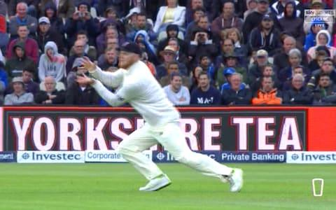Stokes dropped Powell on 2Credit: Sky Sports Cricket