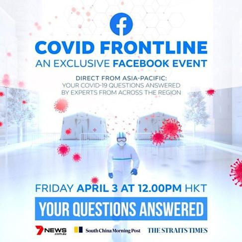 Covid Frontline is available on demand through Facebook Watch after it was broadcast at noon on Friday. Photo: Handout