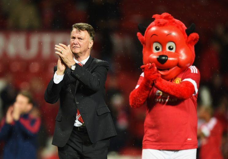 Van Gaal next to a red devil (I'm saying nothing)