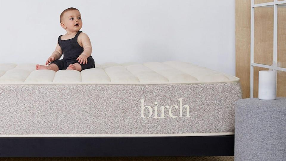 Cozy up with a brand new mattress from Birch by Helix.