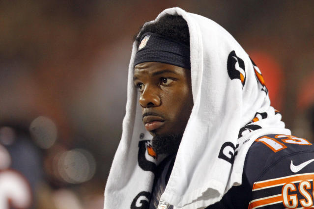 Chicago Bears wide receiver Kevin White did not have his fifth-year option picked up. (AP)