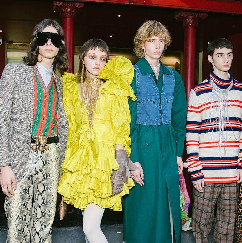 b48110509 Leather Knickers, Mickey Mouse Heads, and a Live Cockatoo—What You Need to  Know About Gucci's Spring 2019 Show at Le Palace