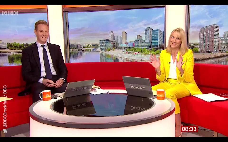 Louise Minchin announced her imminent departure from 'BBC Breakfast' in June. (@BBCBreakfast via Twitter/BBC)