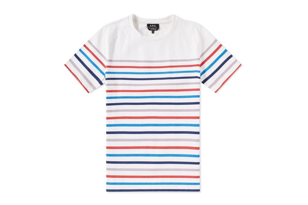 "<p><em>$119, buy now at <a rel=""nofollow"" href=""https://www.endclothing.com/us/a-p-c-regular-stripe-tee-cobqu-h26524-saa.html?mbid=synd_yahoostyle"">endclothing.com</a></em></p>"