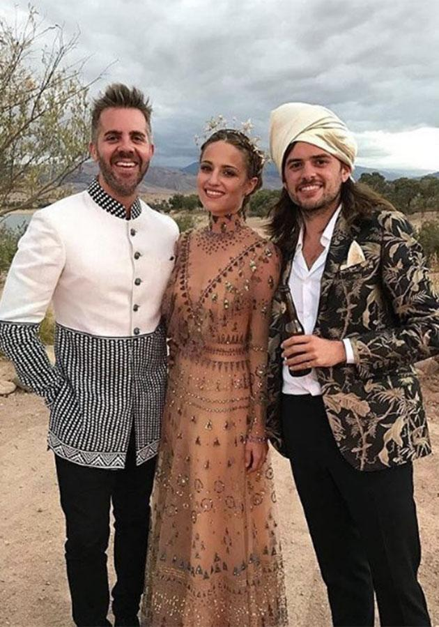 Agron looked breathtaking in her wedding dress. (Photo: Instagram/gleecastnew)