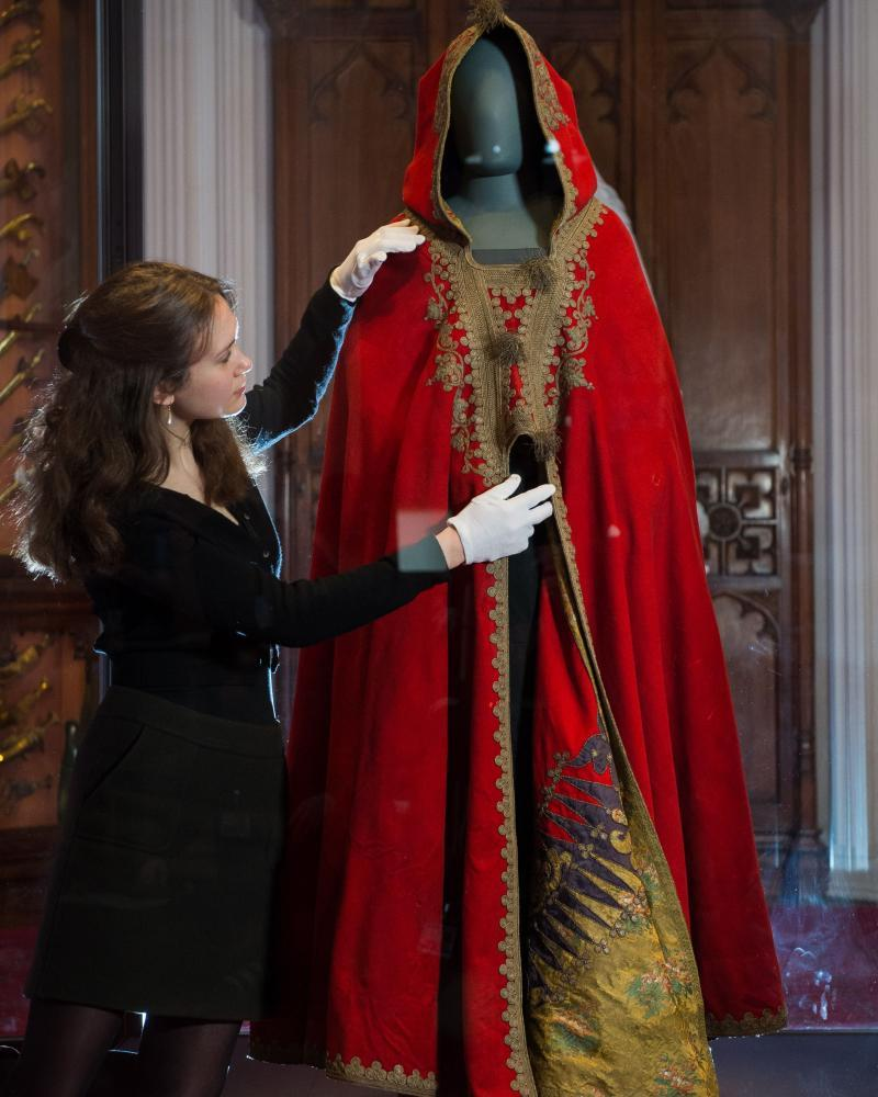 Napoleon's red cloak: the Berber-inspired garment greatly appealed to Charles during his childhood at Windsor Castle.
