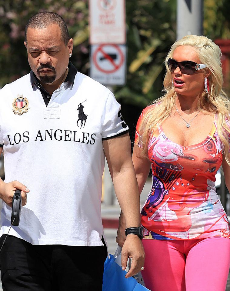 Rapper/actor/reality star Ice-T got some retail therapy with his wife of 10 years, Playboy model/fellow reality star/buxom blonde Coco in West Hollywood, California, on Wednesday. So why should you care? (3/21/2012)