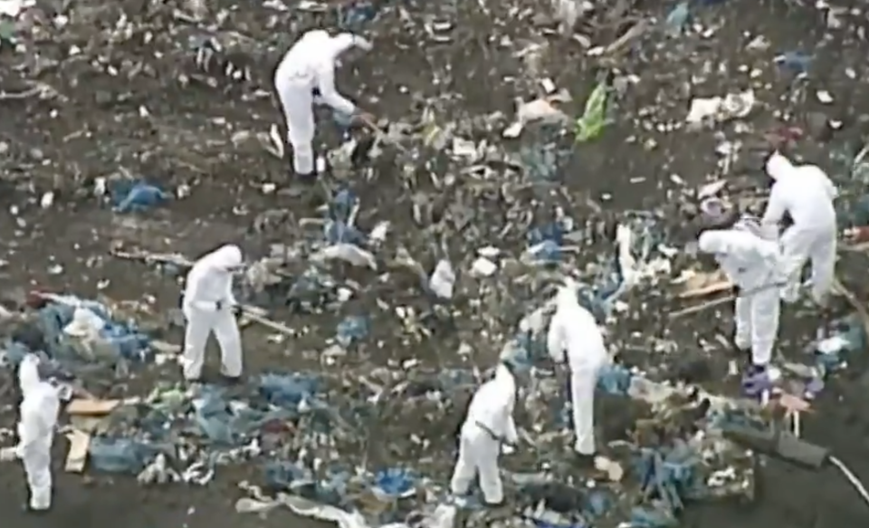 Forensics work through a Wollert landfill to find a missing woman.
