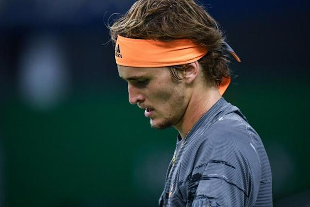 Alexander Zverev faces a tough task to defend his ATP Finals title after defeat to US youngster Taylor Fritz (AFP Photo/HECTOR RETAMAL)