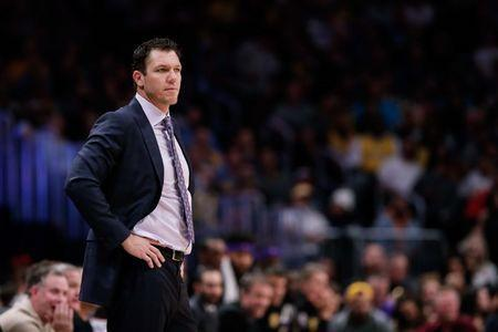 FILE PHOTO: Nov 27, 2018; Denver, CO, USA; Los Angeles Lakers head coach Luke Walton looks on in the second quarter against the Denver Nuggets at the Pepsi Center. Mandatory Credit: Isaiah J. Downing-USA TODAY Sports