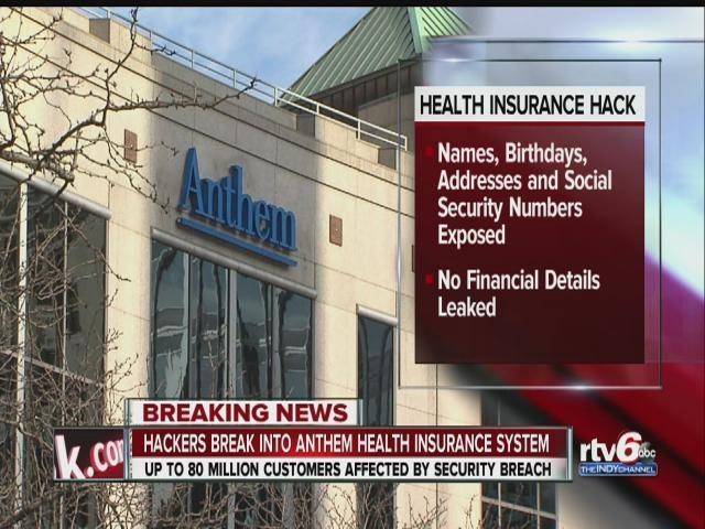 Health insurer Anthem hit by massive cybersecurity breach