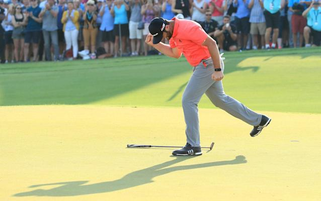 Jon Rahm only had to make the tense final putt because of his earlier jitters - Getty Images Europe