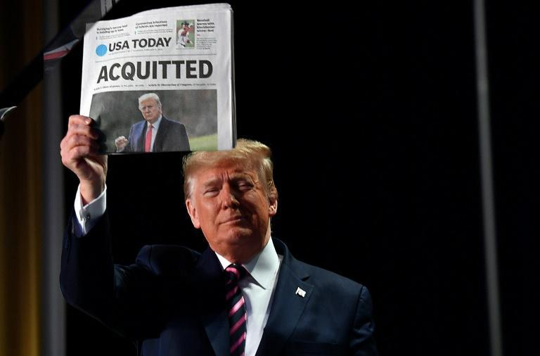 President Donald Trump was 'acquitted' by the Senate but he remains only the third president to be impeached