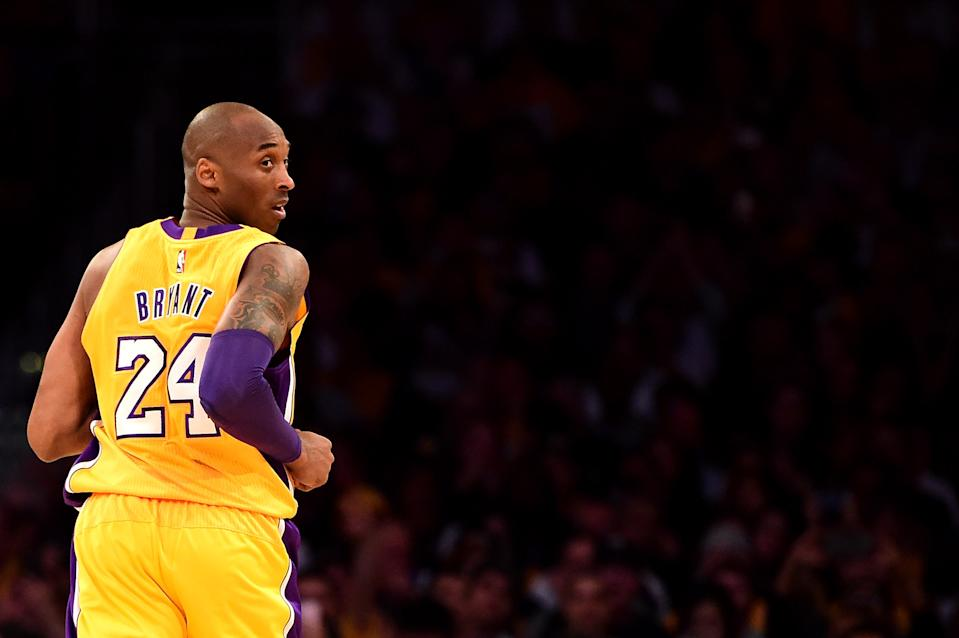 Kobe Bryant embarked on a season-long farewell tour in NBA arenas across the country in 2015-16, culminating in his final game at home in Los Angeles. (Getty Images)