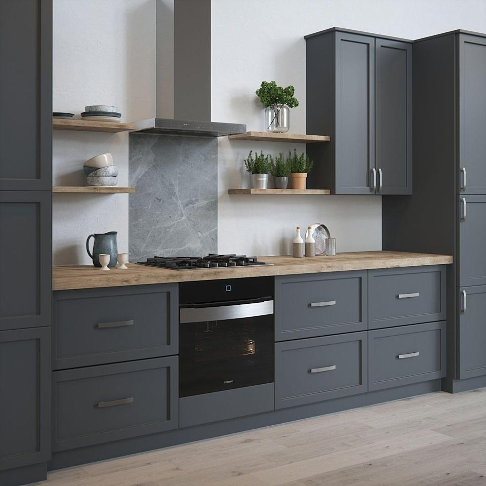 """<p>A sleek, sophisticated medium-to-dark grey marble effect, perfect for contemporary spaces. House Beautiful Pietra splashback in Grey (600mm x 750mm), £175.</p><p><a class=""""link rapid-noclick-resp"""" href=""""https://www.splashback.co.uk/shop/designer-splashbacks/house-beautiful/house-beautiful-pietra-grey-splashback/"""" rel=""""nofollow noopener"""" target=""""_blank"""" data-ylk=""""slk:BUY NOW"""">BUY NOW</a><strong><br><br>------</strong></p><p><strong>Like this article? <a href=""""https://hearst.emsecure.net/optiext/cr.aspx?ID=DR9UY9ko5HvLAHeexA2ngSL3t49WvQXSjQZAAXe9gg0Rhtz8pxOWix3TXd_WRbE3fnbQEBkC%2BEWZDx"""" rel=""""nofollow noopener"""" target=""""_blank"""" data-ylk=""""slk:Sign up to our newsletter"""" class=""""link rapid-noclick-resp"""">Sign up to our newsletter</a> to get more articles like this delivered straight to your inbox.</strong></p><p><a class=""""link rapid-noclick-resp"""" href=""""https://hearst.emsecure.net/optiext/cr.aspx?ID=DR9UY9ko5HvLAHeexA2ngSL3t49WvQXSjQZAAXe9gg0Rhtz8pxOWix3TXd_WRbE3fnbQEBkC%2BEWZDx"""" rel=""""nofollow noopener"""" target=""""_blank"""" data-ylk=""""slk:SIGN UP"""">SIGN UP</a> </p><p>In need of some positivity or not able to make it to the shops? <a href=""""https://go.redirectingat.com?id=127X1599956&url=https%3A%2F%2Fwww.hearstmagazines.co.uk%2Fhb%2Fhouse-beautiful-magazine-subscription-website&sref=https%3A%2F%2Fwww.housebeautiful.com%2Fuk%2Fhouse-beautiful-collections%2Fg34526670%2Fkitchen-glass-splashbacks-range%2F"""" rel=""""nofollow noopener"""" target=""""_blank"""" data-ylk=""""slk:Subscribe to House Beautiful magazine today"""" class=""""link rapid-noclick-resp"""">Subscribe to House Beautiful magazine today</a> and get each issue delivered directly to your door. </p>"""
