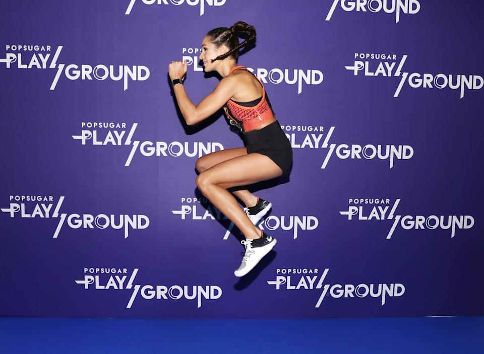 NEW YORK, NY - JUNE 10:  Personal trainer Kayla Itsines attends day 2 of POPSUGAR Play/Ground on June 10, 2018 in New York City.  (Photo by Cindy Ord/Getty Images for POPSUGAR Play/Ground)