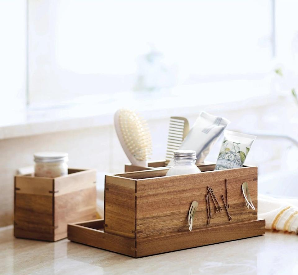 <p>The magnetic strip on this <span>Threshold Modular Vanity Organizer</span> ($25) is so useful.</p>