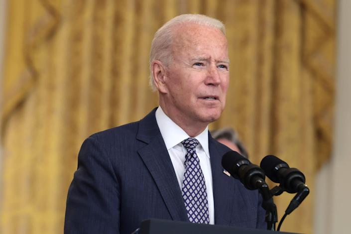 President Joe Biden says the U.S. military is evacuating thousands of people from Afghanistan on Aug. 20.