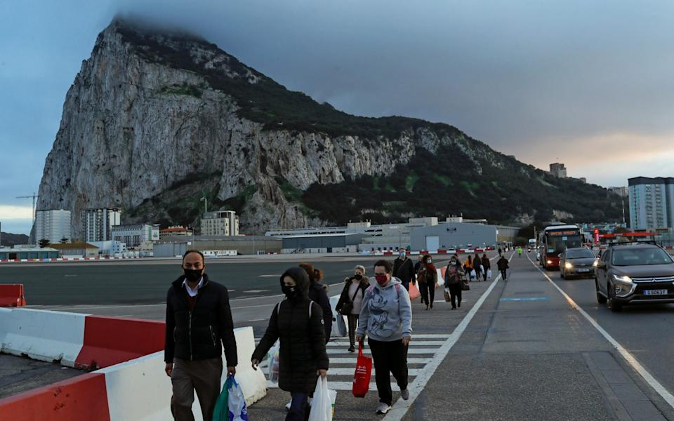 The Government of Gibraltar has expressed concerns about the future of the island after the end of the transition period -  JON NAZCA/REUTERS