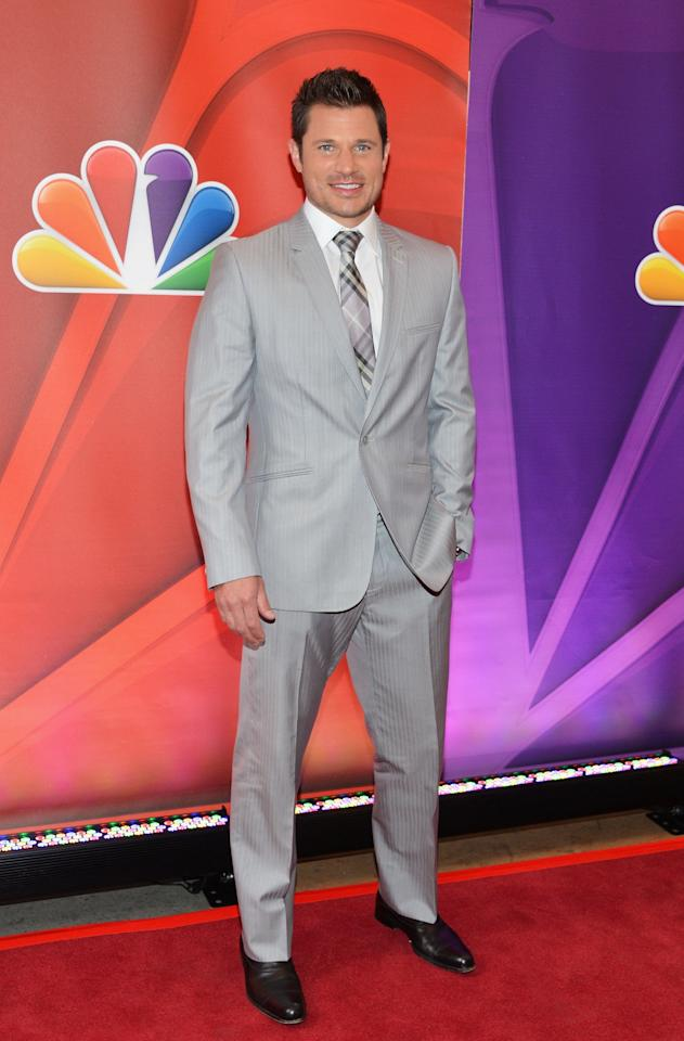 NEW YORK, NY - MAY 13:  Actor Nick Lachey attends 2013 NBC Upfront Presentation Red Carpet Event at Radio City Music Hall on May 13, 2013 in New York City.  (Photo by Slaven Vlasic/Getty Images)