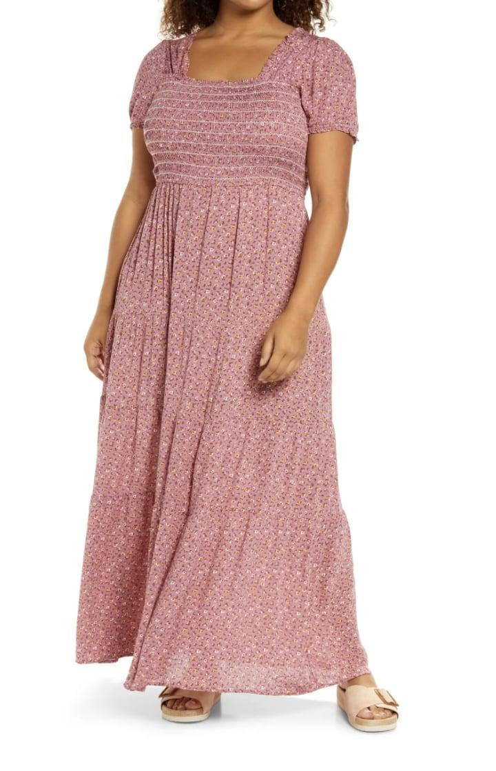 <p>This <span>Treasure &amp; Bond Puff Sleeve Maxi Dress </span> ($59) is romantic and timeless, with the ditsy floral print and flowy silhouette.</p>
