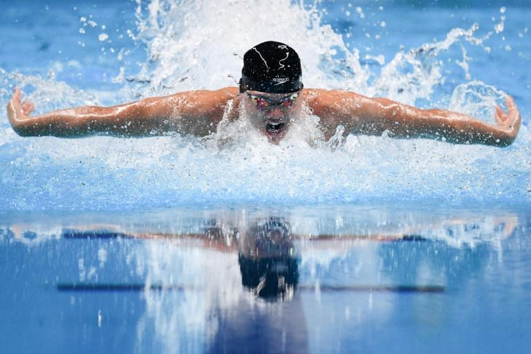 Schooling is attempting to defend his title at the Tokyo Olympics