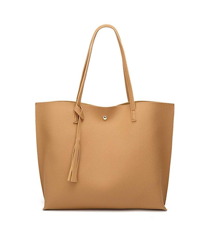 Dreubea Soft Leather Tote Bag (Photo: Amazon)