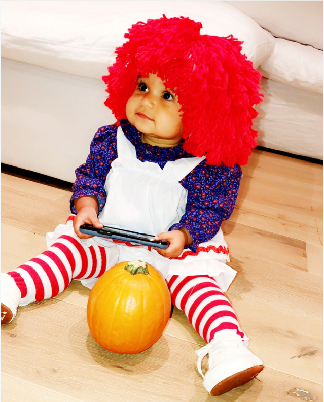"<p>What a doll! For her first Halloween, Baby Dream went as the classic Raggedy Ann. Rob Kardashian's daughter is also getting ready to celebrate her first birthday on Nov. 10, and we can't wait see what kind of extravaganza that is going to be. (Photo: <a href=""https://www.instagram.com/p/Ba7ozI6lSXF/?taken-by=blacchyna"" rel=""nofollow noopener"" target=""_blank"" data-ylk=""slk:Blac Chyna via Instagram"" class=""link rapid-noclick-resp"">Blac Chyna via Instagram</a>) </p>"