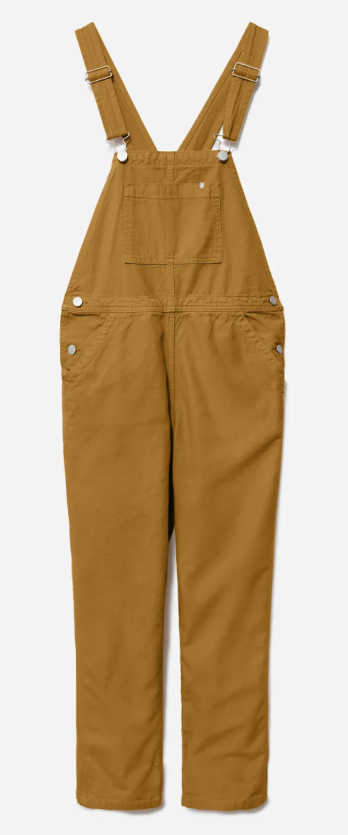 Everlane The Canvas Overalls in Mustard