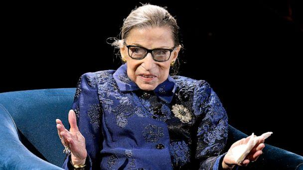 PHOTO: Justice Ruth Bader Ginsburg speaks onstage at the Fourth Annual Berggruen Prize Gala celebrating 2019 Laureate Supreme Court Justice Ruth Bader Ginsburg, In New York City, on December 16, 2019. (Eugene Gologursky/Getty Images for Berggruen Institute)