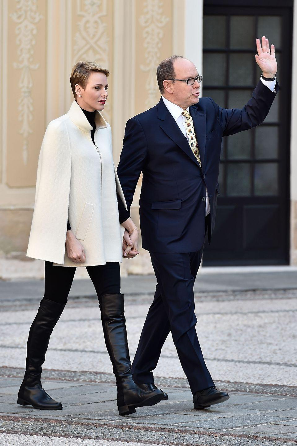 <p>She favors Akris and Armani for official engagements.</p>