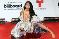 <p>Jessie Reyes strikes a pose at the Billboard Latin Music Awards on Wednesday in Sunrise, Florida.</p>