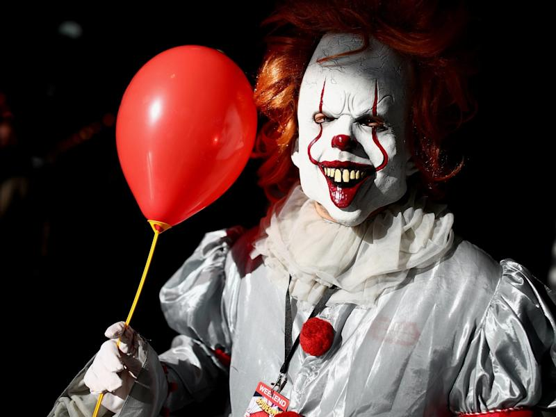 The creepy trend is thought to have started as a homage to the Pennywise character from the Stephen King novel 'It': Reuters
