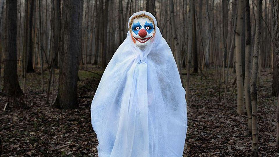 The latest sighting occurred on Tuesday, when a man brandishing a machete chased a clown into the woods near an apartment complex. Photo: Supplied