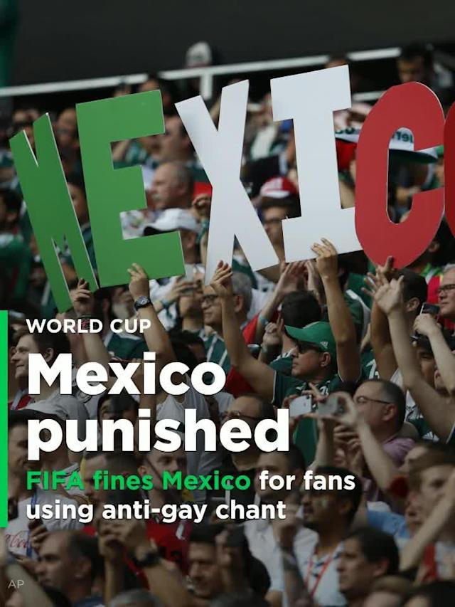 After its fans were clearly heard using an anti-gay slur toward Germany's goalkeeper, Mexico has been fined by FIFA.