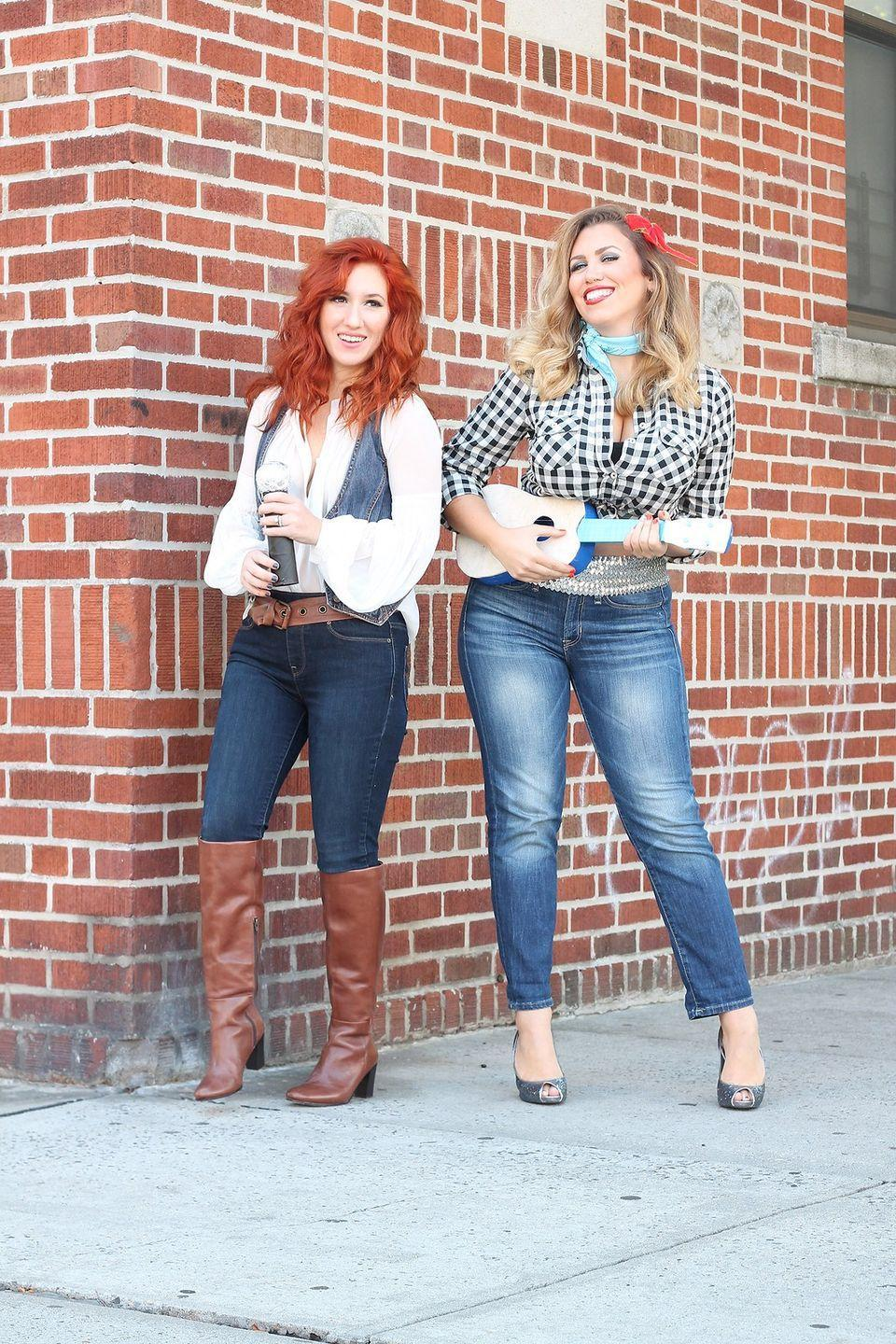 """<p>If only these famed country crooners were actually sisters in real life! Wow trick-or-treaters with a quick duet from this pair's collection of greatest hits. </p><p><strong>Get the tutorial at <a href=""""http://livingaftermidnite.com/2017/10/best-friend-halloween-costumes.html"""" rel=""""nofollow noopener"""" target=""""_blank"""" data-ylk=""""slk:Living After Midnite"""" class=""""link rapid-noclick-resp"""">Living After Midnite</a>. </strong></p><p><strong><a class=""""link rapid-noclick-resp"""" href=""""https://www.amazon.com/GUANYY-Womens-Sleeve-Classic-X-Large/dp/B078J3JGLN?tag=syn-yahoo-20&ascsubtag=%5Bartid%7C10050.g.21530121%5Bsrc%7Cyahoo-us"""" rel=""""nofollow noopener"""" target=""""_blank"""" data-ylk=""""slk:SHOP PLAID SHIRTS"""">SHOP PLAID SHIRTS</a><br></strong></p>"""