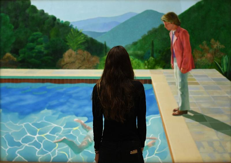 David Hockney painting sells for record-breaking £70m at auction