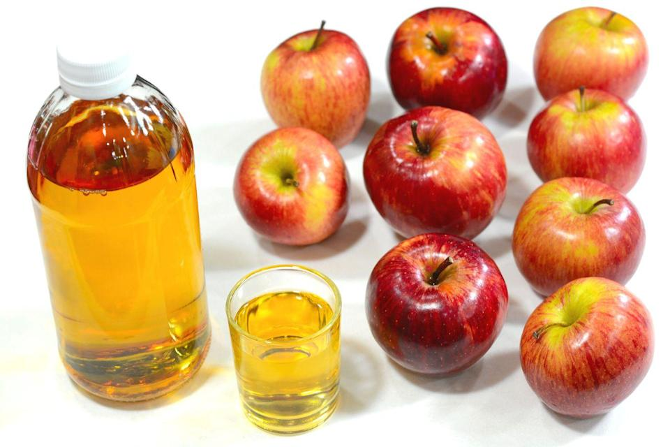 """<p>""""Some people put apple cider vinegar in water and sip it throughout the day, but I hate the taste of it so I put it in a shot glass and throw it back like I'm doing a shot of tequila,"""" says Amy Morosini, whose health tips are featured in <em><a href=""""https://order.hearstproducts.com/subscribe/hstproducts/239737"""" rel=""""nofollow noopener"""" target=""""_blank"""" data-ylk=""""slk:Secrets of the World's Healthiest People"""" class=""""link rapid-noclick-resp"""">Secrets of the World's Healthiest People</a></em>. """"Instead of sucking on a lemon afterward, I bite into a sweet piece of fruit, like a strawberry or tangerine. It's a healthy shot everyone should do!""""</p><p><strong>Try Morosini's apple cider vinegar smoothie</strong>: Blend until smooth 1 cup ice, 1 cup baby spinach leaves, ¾ cup green grapes, ¾ cup pineapple chunks, 1 small apple, 1 small banana, ½ cup water, 1 tablespoon chia seeds, and 1 tablespoon apple cider vinegar. Serves 1. </p><p>Excerpted from <em>Secrets of the World's Healthiest People</em>. </p><p><a class=""""link rapid-noclick-resp"""" href=""""https://order.hearstproducts.com/subscribe/hstproducts/239737"""" rel=""""nofollow noopener"""" target=""""_blank"""" data-ylk=""""slk:Shop Now"""">Shop Now</a></p>"""