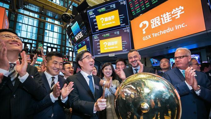 IPO GSX di New York Stock Exchange (Sumber:Twitter/NYSE)