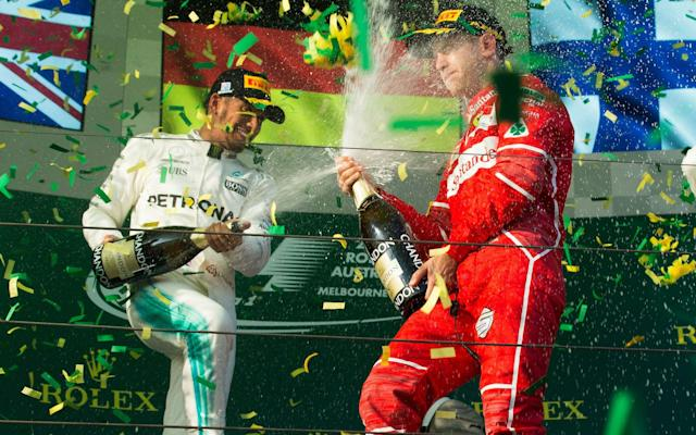 <span>A straight fight between Hamilton and Vettel in Bahrain? Or will one of their teammates step up their own challenge?</span> <span>Credit: Action Press/REX/Shutterstock </span>