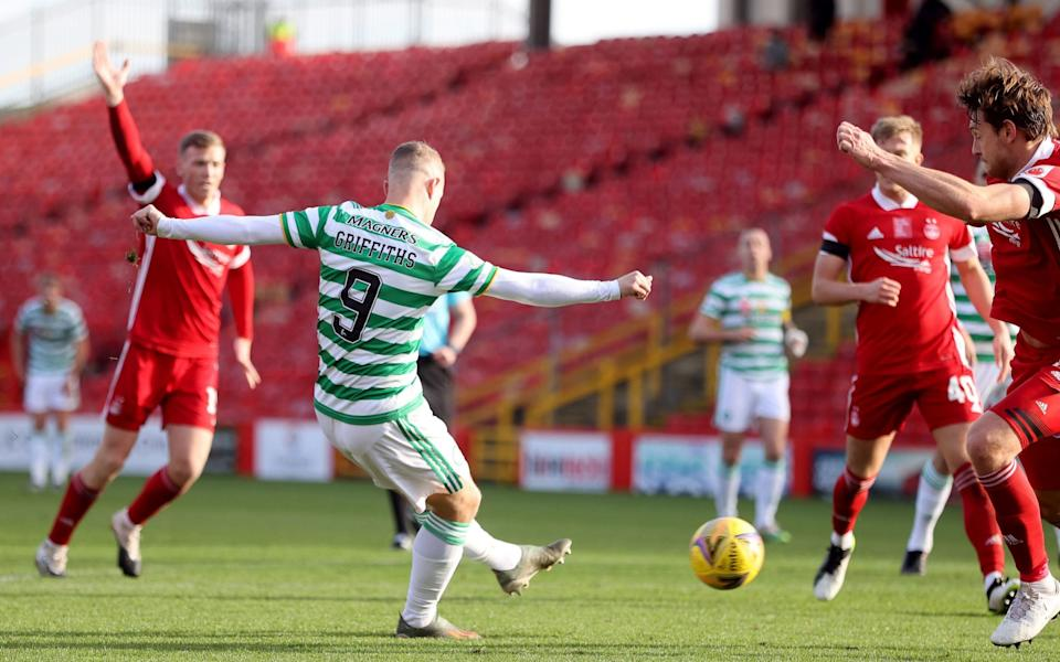 Leigh Griffiths scored Celtic's second -  PA