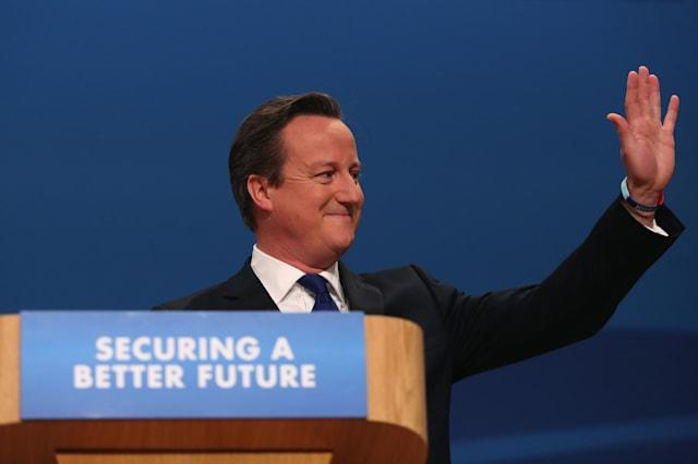 U.K. Prime Minister David Cameron Addresses Annual Party Conference