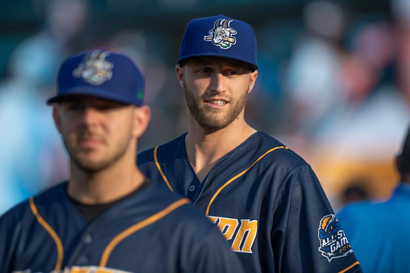 Minor league pitcher Mitch Horacek.
