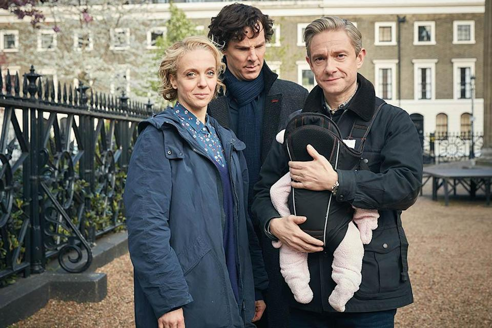 """<p><b>This Season's Theme:</b> """"I would say that the chickens are coming home to roost this season… but without real chickens,"""" jokes <i>Sherlock</i> co-creator Mark Gatiss, who also portrays Holmes's brother, Mycroft. """"No real chickens are harmed in the making of this season. That's an exclusive."""" <br><br><b>Where We Left Off: </b> Last year's """"The Abominable Bride"""" took us on an extended tour of Sherlock's mind palace and confirmed that his and Watson's longtime nemesis, Moriarty, is dead as a doornail. Or is he? """"People assume that we're fibbing every time we say he's <i>definitely</i> dead,"""" Gatiss says, laughing. """"But he is dead. Believe me!"""" <br><br><b>Coming Up: </b> Moriarty may not be a corporeal threat anymore, but his reach will definitely be felt from beyond the grave. """"The shadows of the past are coming back to haunt them, along with the consequences of their actions,"""" Gatiss teases. For more specifics, fans could apply their deductive reasoning to the three Sir Arthur Conan Doyle stories that are being loosely adapted this season: """"The Adventure of the Six Napoleons,"""" """"The Adventure of the Dying Detective,"""" and """"The Final Problem."""" <br><br><b>Two Men and a Baby: </b> Watson is embarking on a whole new journey this season: fatherhood. He and his wife, ex-CIA agent Mary, are the proud parents of a baby girl, and, naturally, Uncle Sherlock will be on hand to administer child care. """"He treats the baby like a case, says Gatiss. """"She's a real mystery to him."""" <i>— Ethan Alter</i> <br><br>(Credit: PBS/Masterpiece) </p>"""