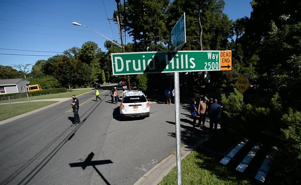 Jefferson Davis Street was officially renamed Druid Hills Way in a ceremony where they replaced the street sign on Friday, Sept. 24, 2021.