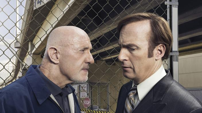 """Jonathan Banks and Bob Odenkirk in """"Better Call Saul"""""""